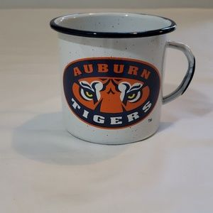 AUBURN TIGERS BAKED ON COATED  METAL CUP